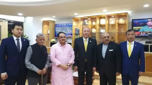 天狮董事长李金元会见印度联邦卫生部部长