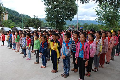 三生云南分公司联合红河州工商局为学校送爱心